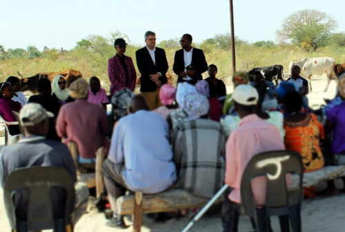 USAID representatives are welcomed by CAG in Oshikoto